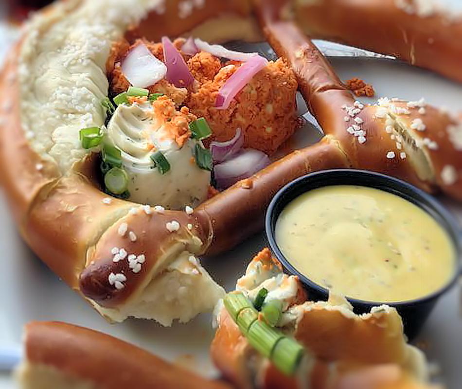 bavarian beer cheese pretzel