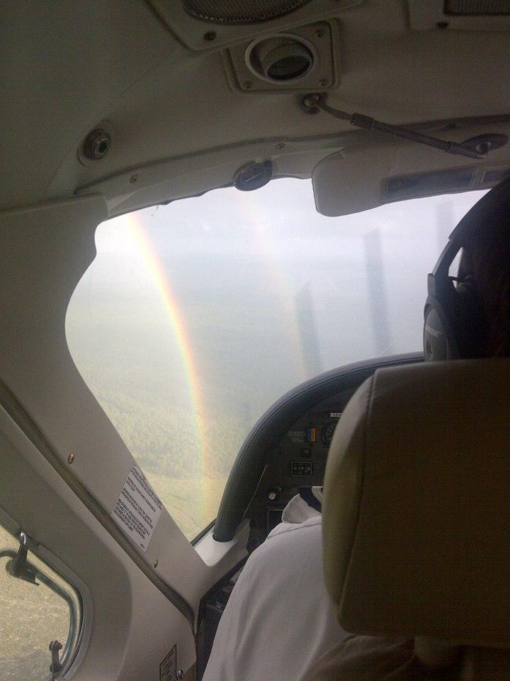 Gorgeous double rainbow!