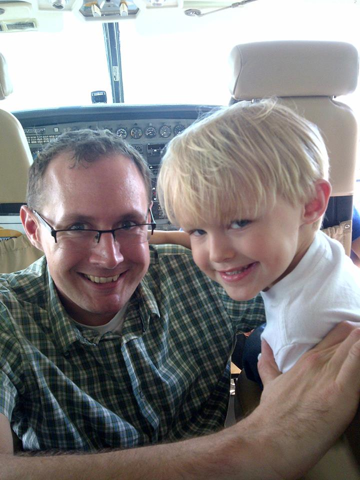 Rick Prendergast (my brother in law) and Ricky, my nephew - it was Ricky's first flight!