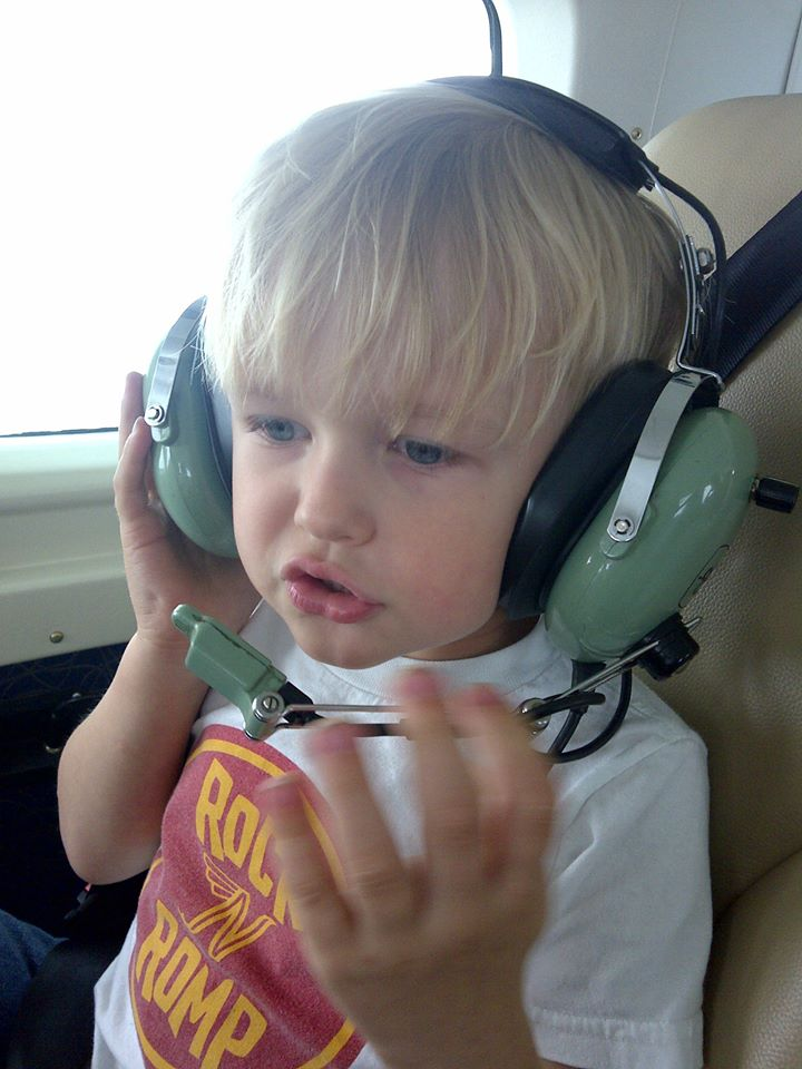 Ricky enjoyed listening to Captain Scott over the headphones!